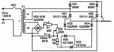 Тиристорный регулятор мощности для сварочного аппарата