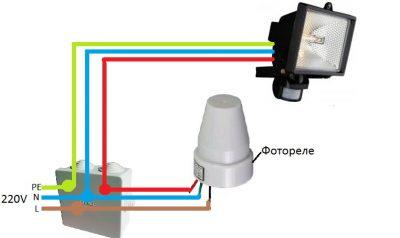 Как подключить фотореле к освещению?