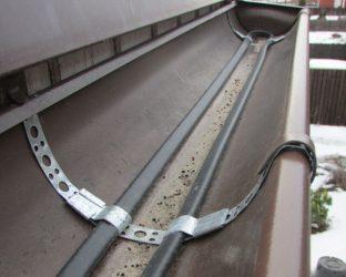 Обогрев водосточной системы греющим кабелем