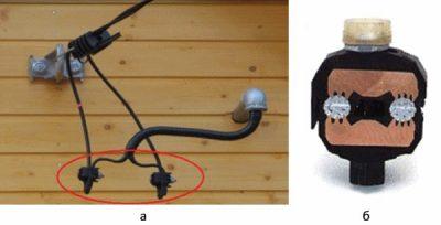 Соединение СИП с медным кабелем