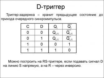 D триггер принцип работы