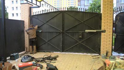 Автоматические ворота с дистанционным открытием своими руками