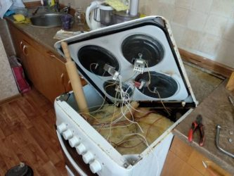 Замена конфорок в электрических плитах