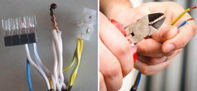 Как соединить два провода без пайки?