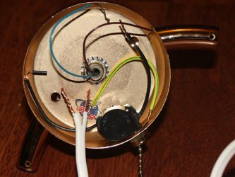 Как подключить бра с выключателем шнурком?