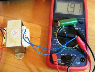 Как узнать мощность трансформатора мультиметром?
