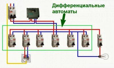 Как подключить дифференциальный автомат в щитке?