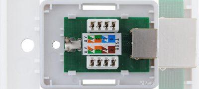 Монтаж компьютерной розетки rj45