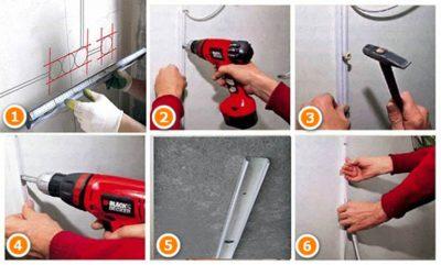 Как прикрепить кабель канал к бетонной стене?