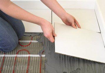 Как укладывать электрический теплый пол под плитку?