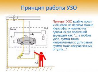 Принцип работы УЗО в однофазной сети