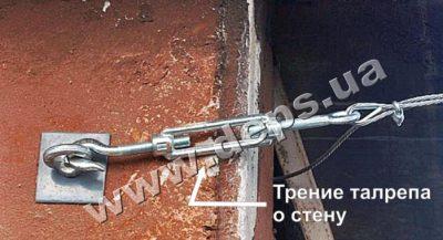 Как натянуть трос для кабеля?