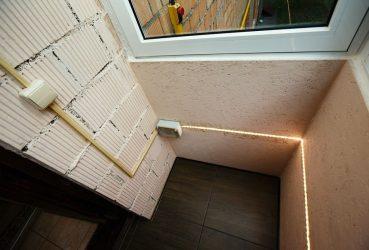 Освещение на балконе своими руками