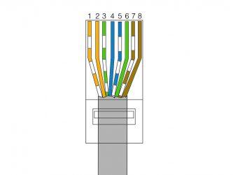 Обжатие витой пары 8 проводов