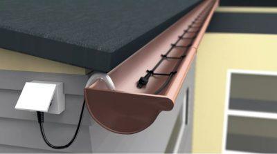 Саморегулирующий греющий кабель для водостока