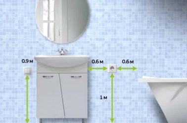 Установка розеток в ванной комнате нормы