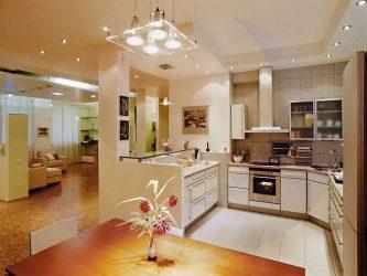 Какое освещение должно быть на кухне?