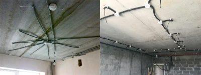 Как развести проводку для точечных светильников?