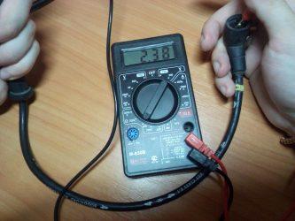 Как проверить брони провода мультиметром?