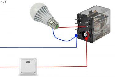 Почему светодиодная лампа светится после выключения?