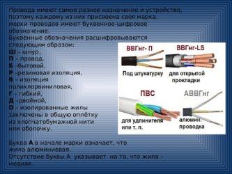 Маркировка электрических кабелей и проводов