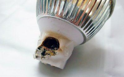 Почему перегорают светодиодные светильники?