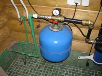 Почему в гидроаккумулятор не поступает вода?