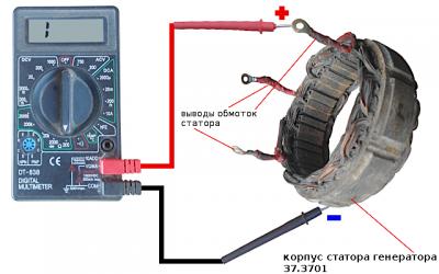 Как прозвонить статор генератора?