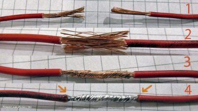 Как спаять два провода между собой?