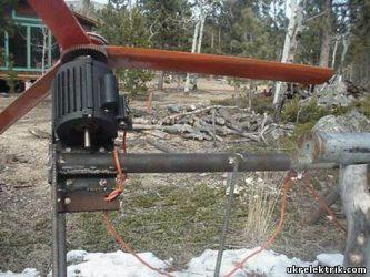 Самодельные ветровые генераторы 220 вольт
