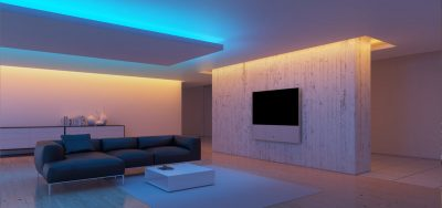 Неоновое освещение квартиры