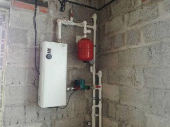 Установка электрического котла отопления своими руками