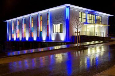 Освещение фасадов зданий архитектурная подсветка