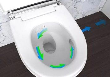 Унитаз с автоматическим спуском воды