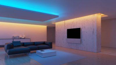 Ленточное освещение потолка
