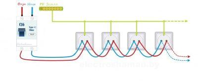 Подключение розеток параллельно или последовательно