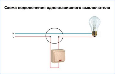 Как правильно подключить лампочку через выключатель?